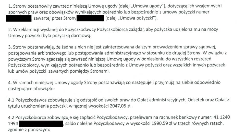Ferratum Bank zgadza się na bezkosztową pożyczkę