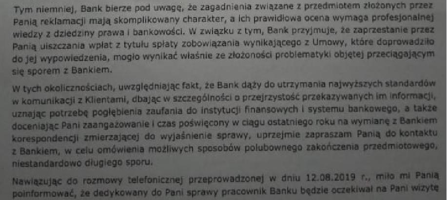 negocjacje z bankiem